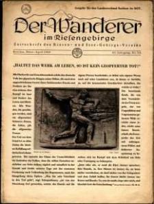 Der Wanderer im Riesengebirge, 1943, nr 3-4