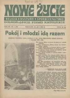 Nowe Życie :dolnośląskie pismo katolickie : religia, kultura, społeczeństwo, 1985, nr 1 (39)