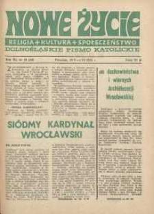 Nowe Życie :dolnośląskie pismo katolickie : religia, kultura, społeczeństwo, 1985, nr 10 (48)