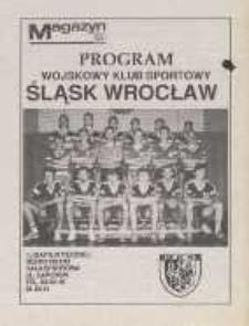 Program - Wojskowy Klub Sportowy Śląsk Wrocław, I Liga Piłki Ręcznej, sezon 1991/1992, dodatek do Magazynu Dziennika Dolnośląskiego
