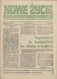 Nowe Życie :dolnośląskie pismo katolickie : religia, kultura, społeczeństwo, 1985, nr 20 (58)