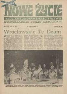 Nowe Życie :dolnośląskie pismo katolickie : religia, kultura, społeczeństwo, 1985, nr 22 (60)