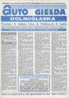 Auto Giełda Dolnośląska : pismo dla kupujących i sprzedających samochody, R. 2, 1993, nr 3 (40) [25.01]