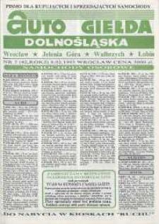 Auto Giełda Dolnośląska : pismo dla kupujących i sprzedających samochody, R. 2, 1993, nr 5 (42) [8.02]