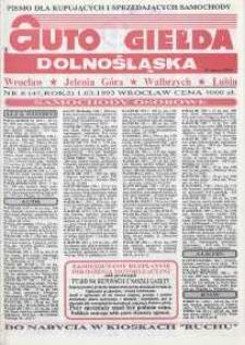 Auto Giełda Dolnośląska : pismo dla kupujących i sprzedających samochody, R. 2, 1993, nr 8 (45) [1.03]