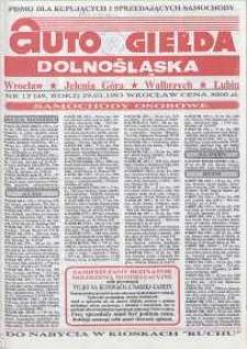 Auto Giełda Dolnośląska : pismo dla kupujących i sprzedających samochody, R. 2, 1993, nr 12 (49) [29.03]