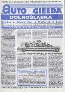Auto Giełda Dolnośląska : pismo dla kupujących i sprzedających samochody, R. 2, 1993, nr 13 (50) [7.04]