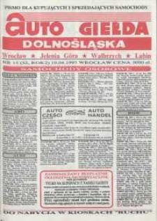 Auto Giełda Dolnośląska : pismo dla kupujących i sprzedających samochody, R. 2, 1993, nr 15 (52) [19.04]