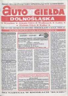 Auto Giełda Dolnośląska : pismo dla kupujących i sprzedających samochody, R. 2, 1993, nr 21 (58) [31.05]