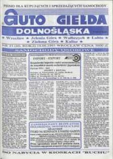 Auto Giełda Dolnośląska : pismo dla kupujących i sprzedających samochody, R. 2, 1993, nr 23 (60) [14.06]