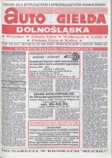 Auto Giełda Dolnośląska : pismo dla kupujących i sprzedających samochody, R. 2, 1993, nr 24 (61) [21.06]