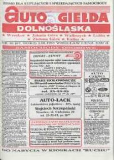 Auto Giełda Dolnośląska : pismo dla kupujących i sprzedających samochody, R. 2, 1993, nr 30 (67) [2,08]