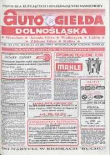 Auto Giełda Dolnośląska : pismo dla kupujących i sprzedających samochody, R. 2, 1993, nr 33 (70) [23.08]