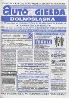 Auto Giełda Dolnośląska : pismo dla kupujących i sprzedających samochody, R. 2, 1993, nr 34 (71) [30.08]