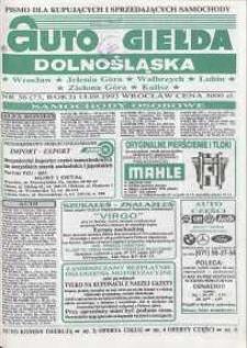 Auto Giełda Dolnośląska : pismo dla kupujących i sprzedających samochody, R. 2, 1993, nr 36 (73) [13.09]