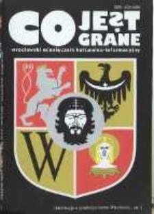 Co Jest Grane : wrocławski miesięcznik kulturalno-informacyjny, 1995, nr 5 (15)