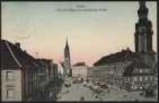 Ohlau - Ring mit Rathaus und evangelische Kirche [Dokument ikonograficzny]