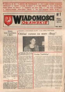 Wiadomości Oławskie, 1990, nr 1