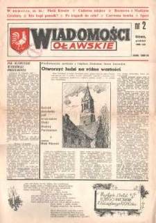 Wiadomości Oławskie, 1990, nr 2