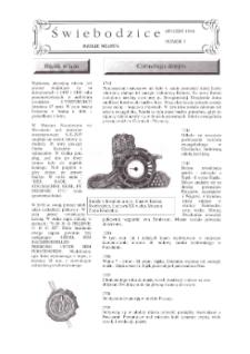 Świebodzice - Dzieje Miasta, 1998, nr 3 (3) [Dokument elektroniczny]