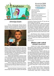 Świebodzice - Dzieje Miasta, 2009, nr 4 (137) [Dokument elektroniczny]