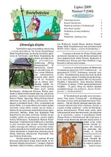 Świebodzice - Dzieje Miasta, 2009, nr 7 (140) [Dokument elektroniczny]