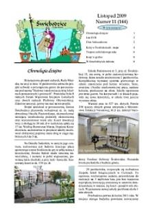 Świebodzice - Dzieje Miasta, 2009, nr 11 (144) [Dokument elektroniczny]