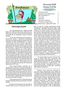 Świebodzice - Dzieje Miasta, 2008, nr 9 (130) [Dokument elektroniczny]