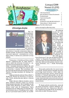 Świebodzice - Dzieje Miasta, 2008, nr 11 (132) [Dokument elektroniczny]