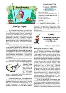 Świebodzice - Dzieje Miasta, 2008, nr 12 (133) [Dokument elektroniczny]