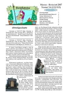 Świebodzice - Dzieje Miasta, 2007, nr 3/4 (112/113) [Dokument elektroniczny]