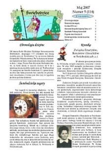 Świebodzice - Dzieje Miasta, 2007, nr 5 (114) [Dokument elektroniczny]