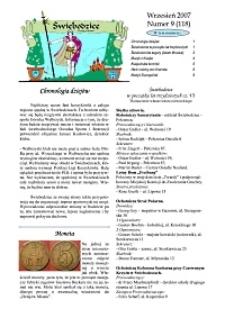 Świebodzice - Dzieje Miasta, 2007, nr 9 (118) [Dokument elektroniczny]
