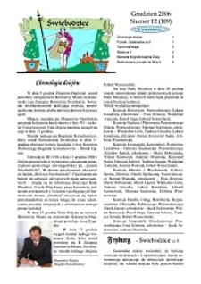 Świebodzice - Dzieje Miasta, 2006, nr 12 (109) [Dokument elektroniczny]