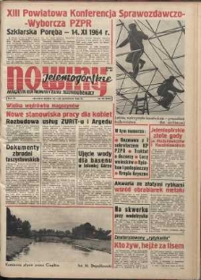 Nowiny Jeleniogórskie : magazyn ilustrowany ziemi jeleniogórskiej, R. 7, 1964, nr 46 (346)