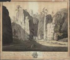 Der Eingang in den Adersbacher Felsen [Dokument ikonograficzny]