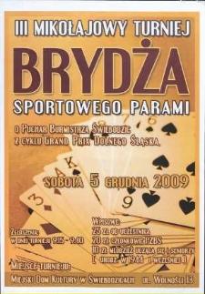 III Mikołajkowy Turniej Brydża sportowego parami