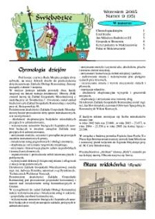 Świebodzice - Dzieje Miasta, 2005, nr 9 (95) [Dokument elektroniczny]
