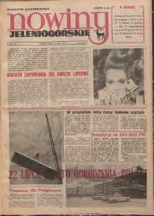 Nowiny Jeleniogórskie : magazyn ilustrowany, R. 15!, 1974, nr 29 (834)
