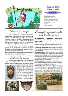 Świebodzice - Dzieje Miasta, 2004, nr 12 (86) [Dokument elektroniczny]