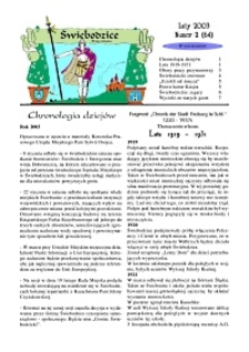 Świebodzice - Dzieje Miasta, 2003, nr 2 (64) [Dokument elektroniczny]