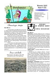 Świebodzice - Dzieje Miasta, 2003, nr 9 (71) [Dokument elektroniczny]