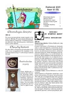 Świebodzice - Dzieje Miasta, 2003, nr 10 (72) [Dokument elektroniczny]