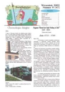 Świebodzice - Dzieje Miasta, 2001, nr 9 (47) [Dokument elektroniczny]