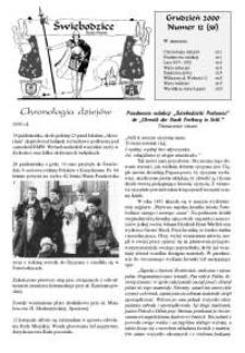 Świebodzice - Dzieje Miasta, 2000, nr 12 (38) [Dokument elektroniczny]