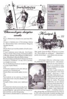 Świebodzice - Dzieje Miasta, 1999, nr [12] (26) [Dokument elektroniczny]