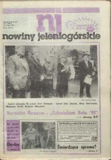 Nowiny Jeleniogórskie : tygodnik społeczny, [R. 35], 1992, nr 7 (1663!)