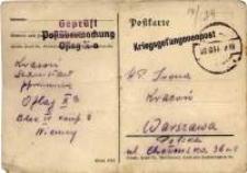 Stanisława Krasonia ołówkowe listy do żony : 1939-1945