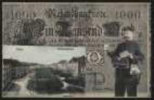 Ohlau – Schlossplatz – Reichsbanknote 1000 [Dokument ikonograficzny]