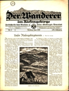 Der Wanderer im Riesengebirge, 1940, nr 6